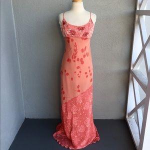 NICOLE MILLER Beaded Silk Dress Size 8